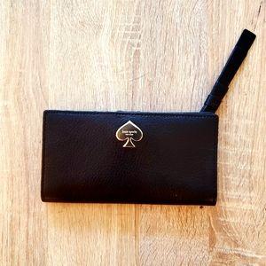 NWT Kate Spade Large Slim Bifold Wallet Black